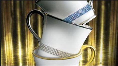 Prouna Jewels, Swarovski Clad Luxury Bone China Dinnerware