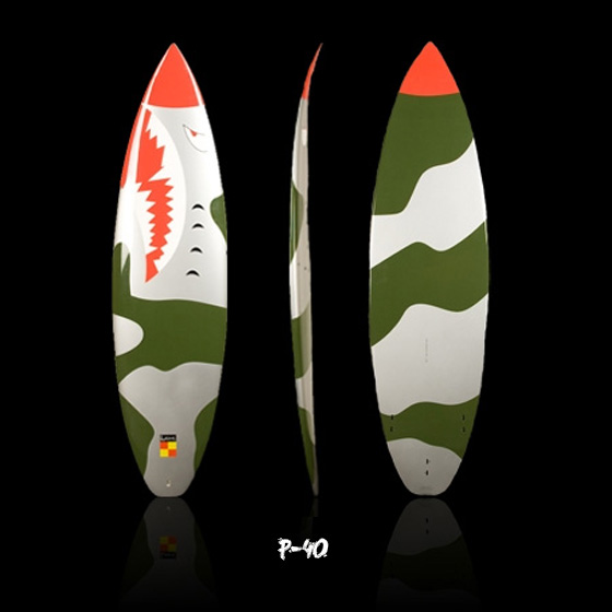 surfboards inspired by Fighter Planes