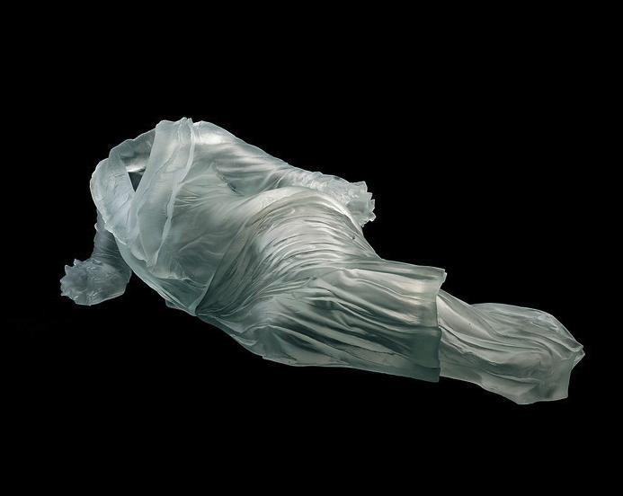 reclining dress in glass