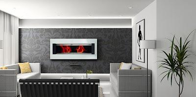 Mito wall mounted fireplace