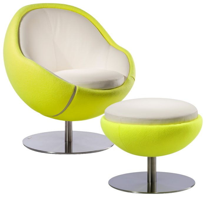 tennis ball chair and ottoman