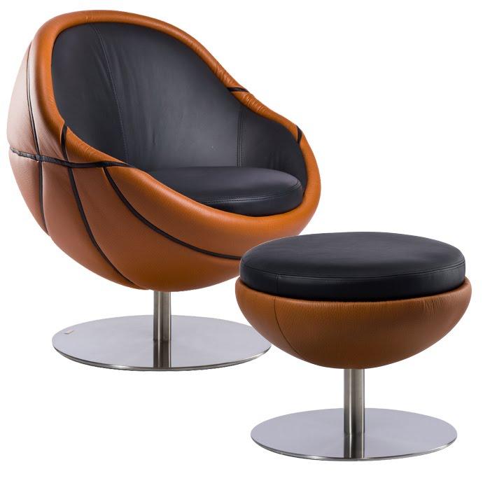 NBA chair and ottoman