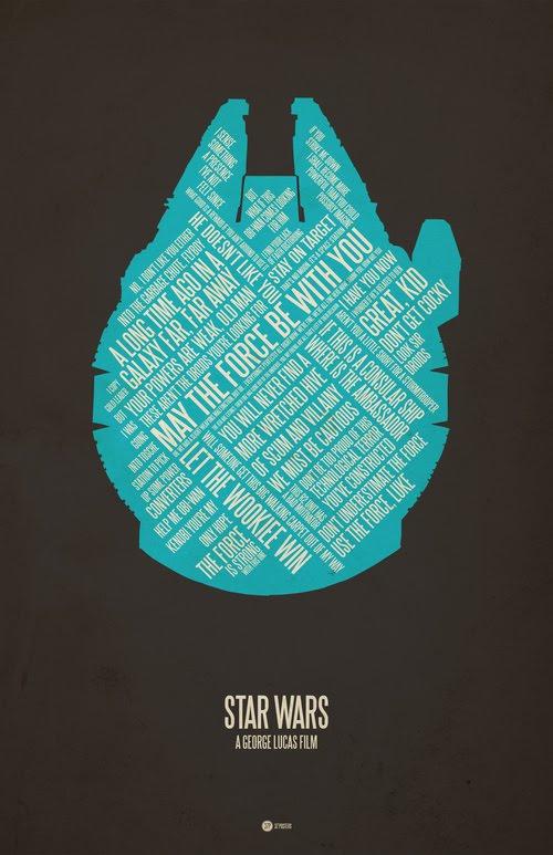 Star Wars typographic poster