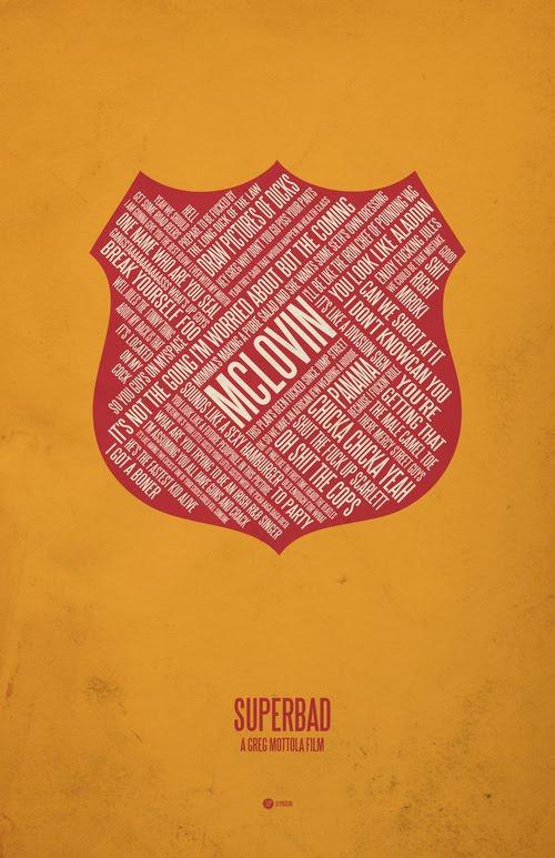 Superbad typographic poster