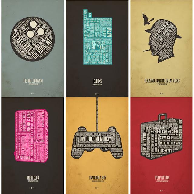Jerod Gibson Movie Typographic posters