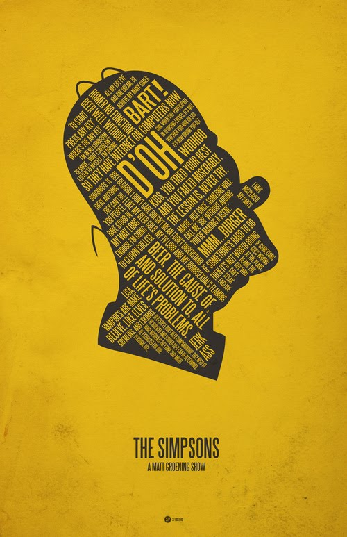 The Simpsons typographic poster