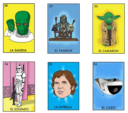 If Its Hip Its Here Archives Space Loteria Star Wars Mexican Bingo By Chepo Pena Is Now