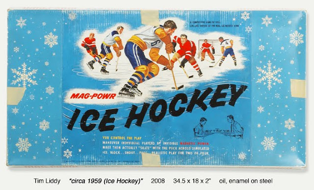 mag-power ice hocley board game painting