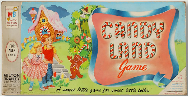 Vintage Candy Land painting