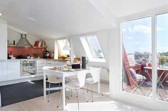 Contemporary Sweden Apartment Design With Rooftop Terrace