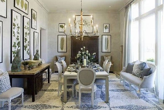 Luxury French Country Style Dining Room Decorating Ideas 2017