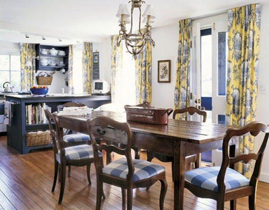 Brighton beach luxury french country style dining room - What is french country style ...
