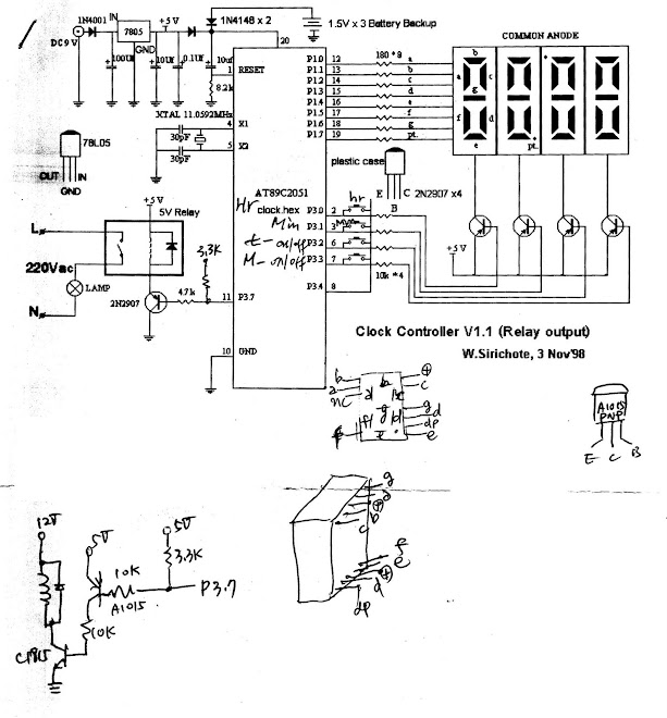 schematic battery backup on at89c2051 clock