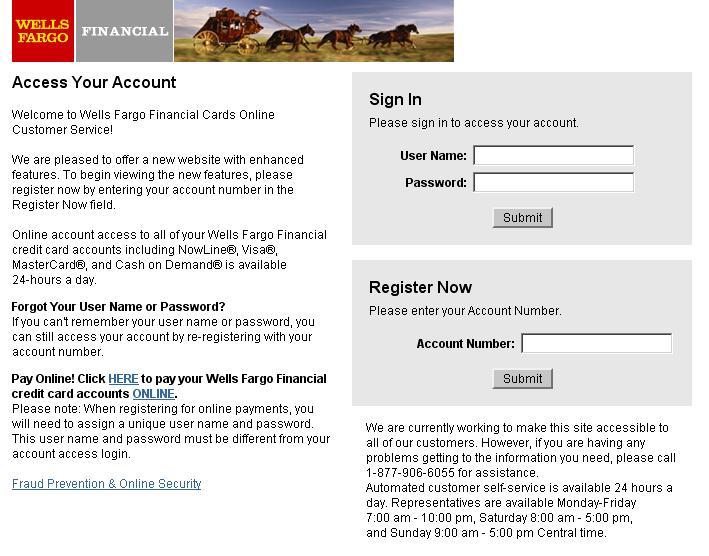 Financial: Www Wellsfargofinancialcards Com : Wellsfargo