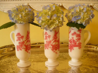 red toile demitasse cups