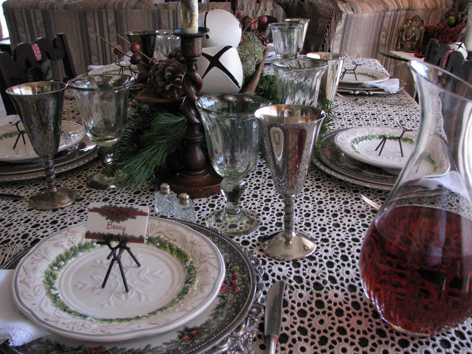 Creative Journeys Winter Garden On The Table Tablescape