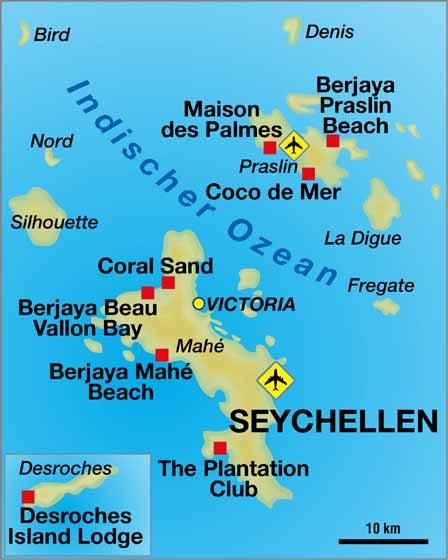 Seychellen Karte Afrika.Seychellen Inseln