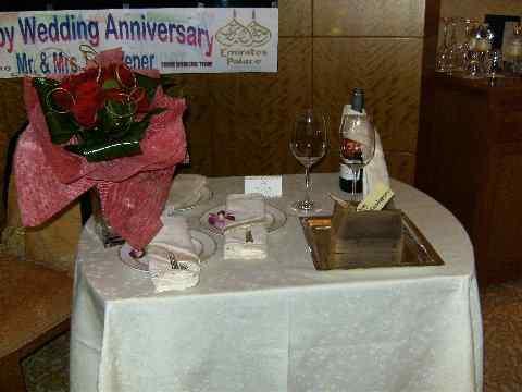 Goldene Hochzeit in Abu Dhabi (C) Kundenfoto