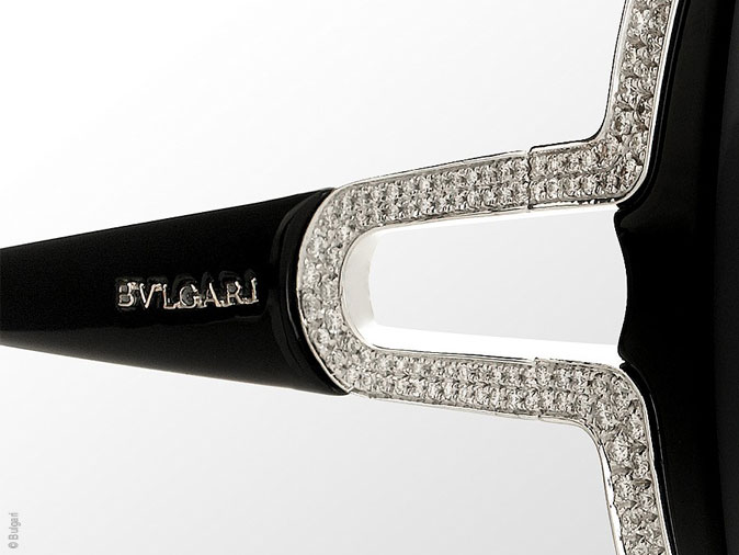 Lunettes de Soleil Bulgari Parentesi   Edition Or et Diamants ... 4a9ceb825a77