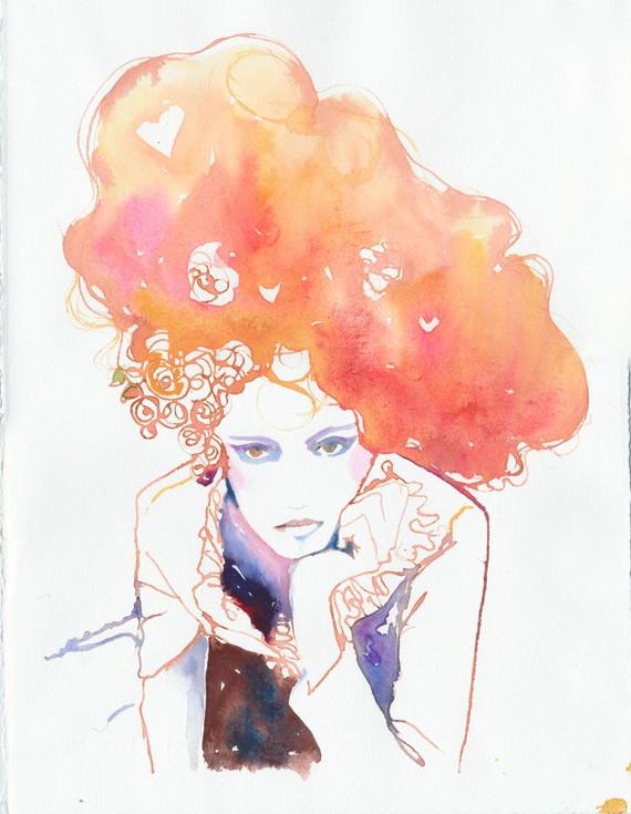 Little Girl, Big World: Watercolor Fashion Illustration