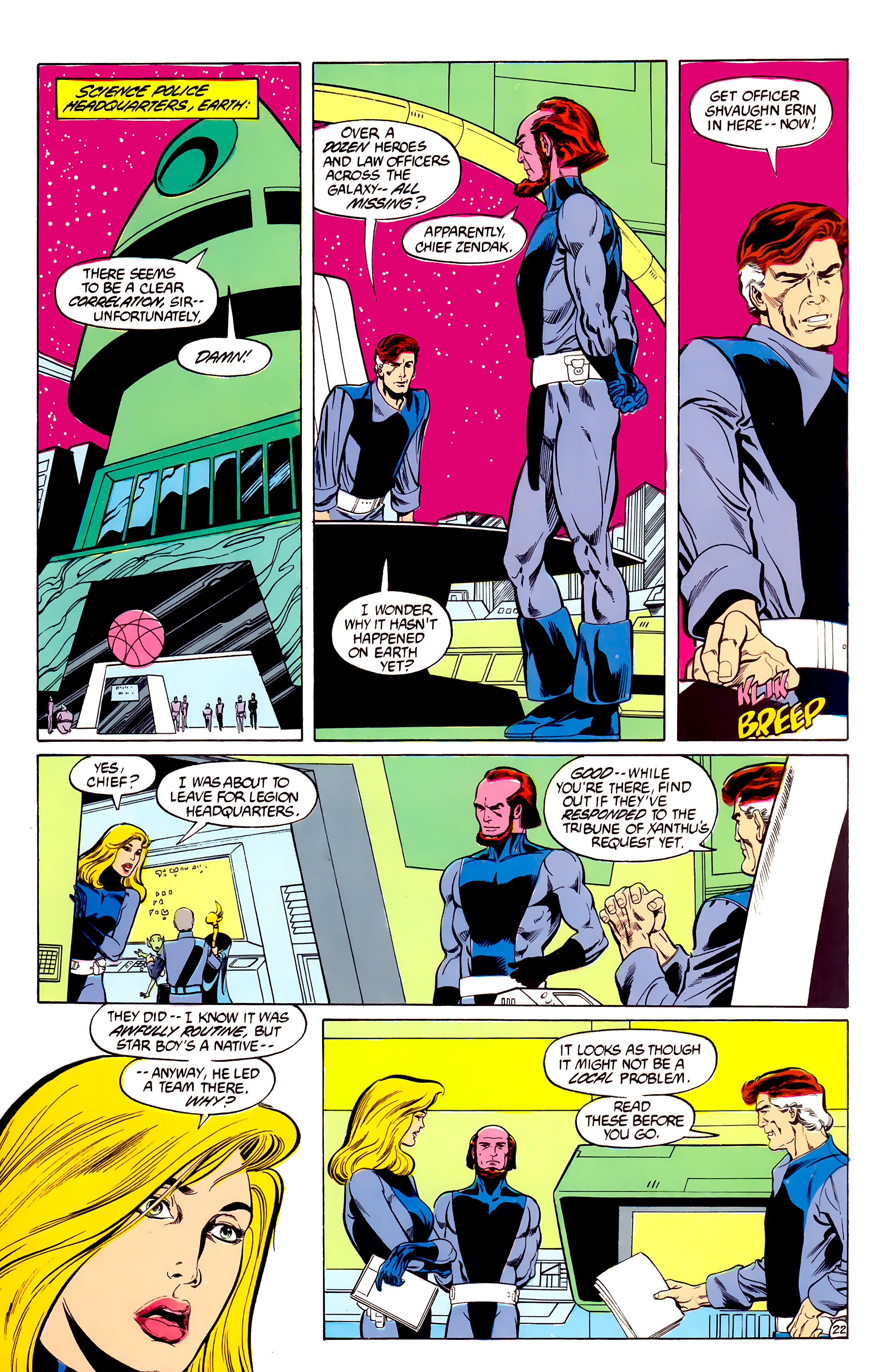 Legion of Super-Heroes (1984) 28 Page 23