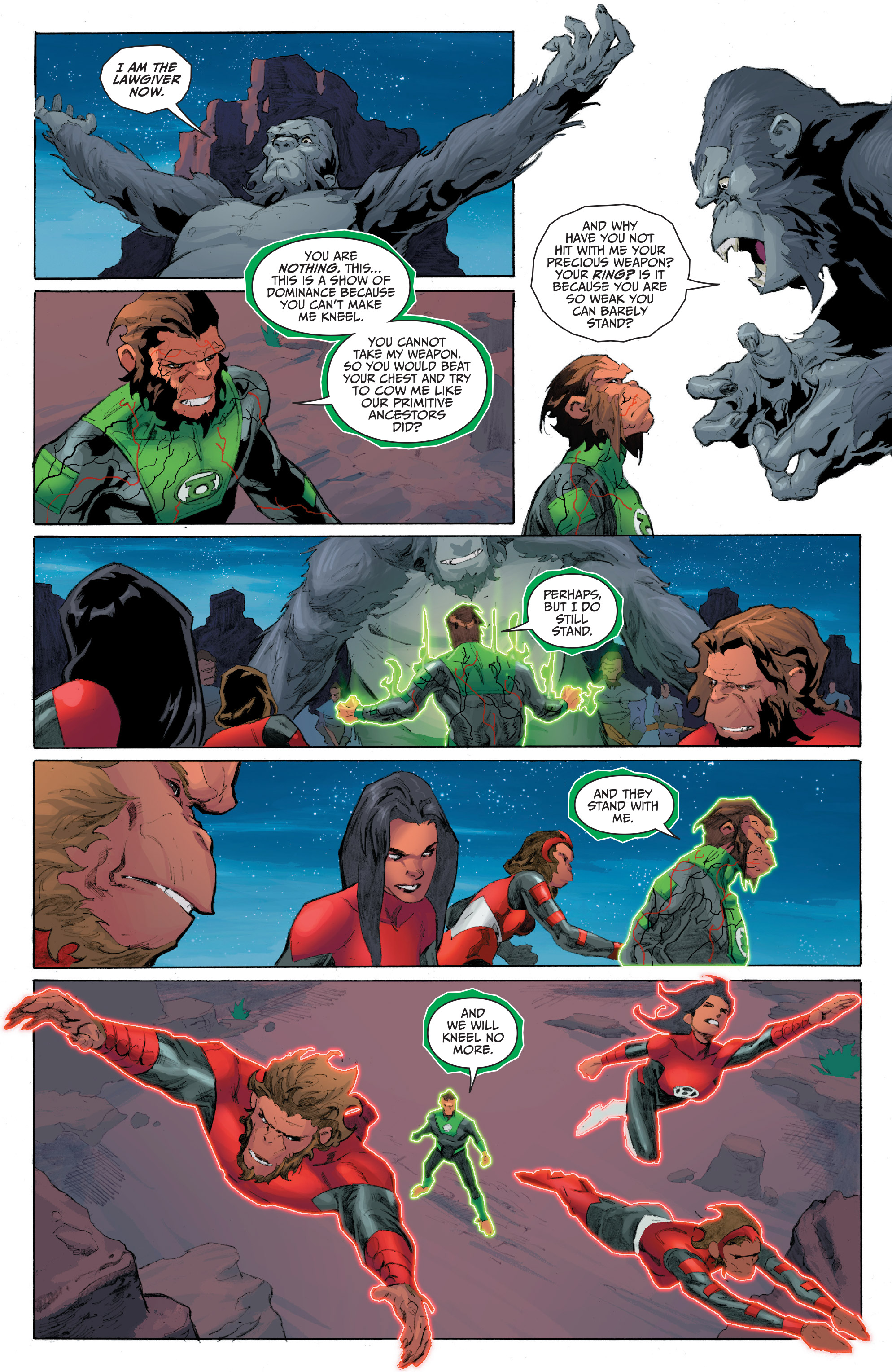 Read online Planet of the Apes/Green Lantern comic -  Issue #5 - 9