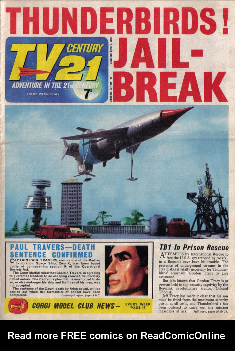 Read online TV Century 21 (TV 21) comic -  Issue #115 - 1