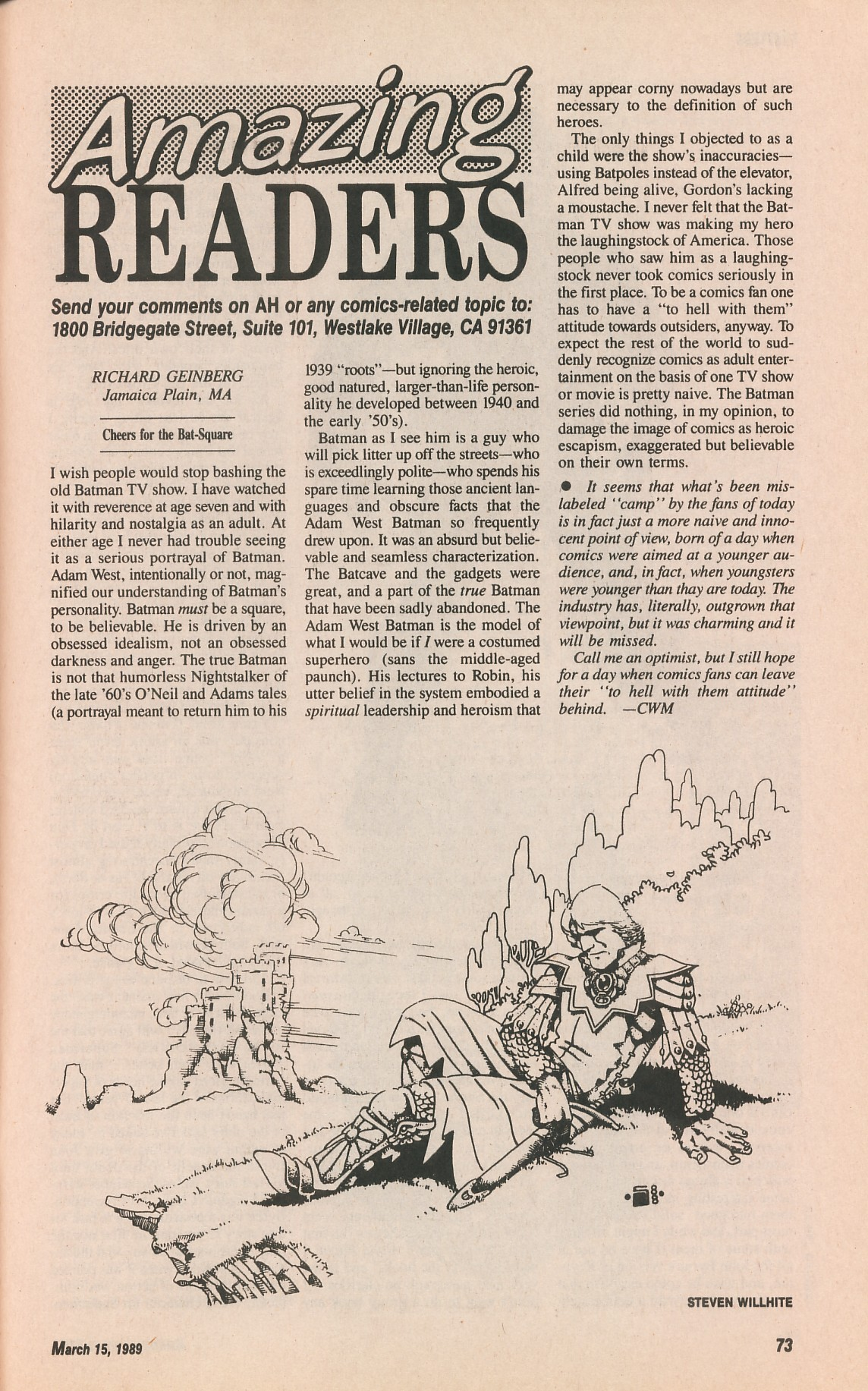 Read online Amazing Heroes comic -  Issue #161 - 73