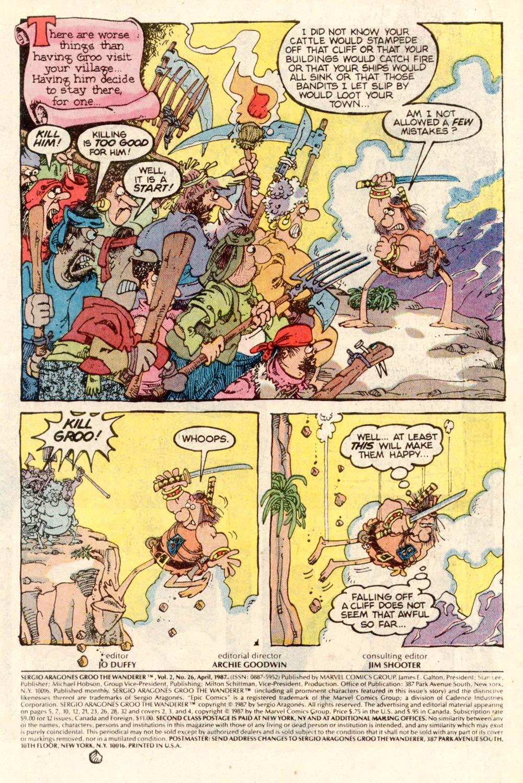 Read online Sergio Aragonés Groo the Wanderer comic -  Issue #26 - 2