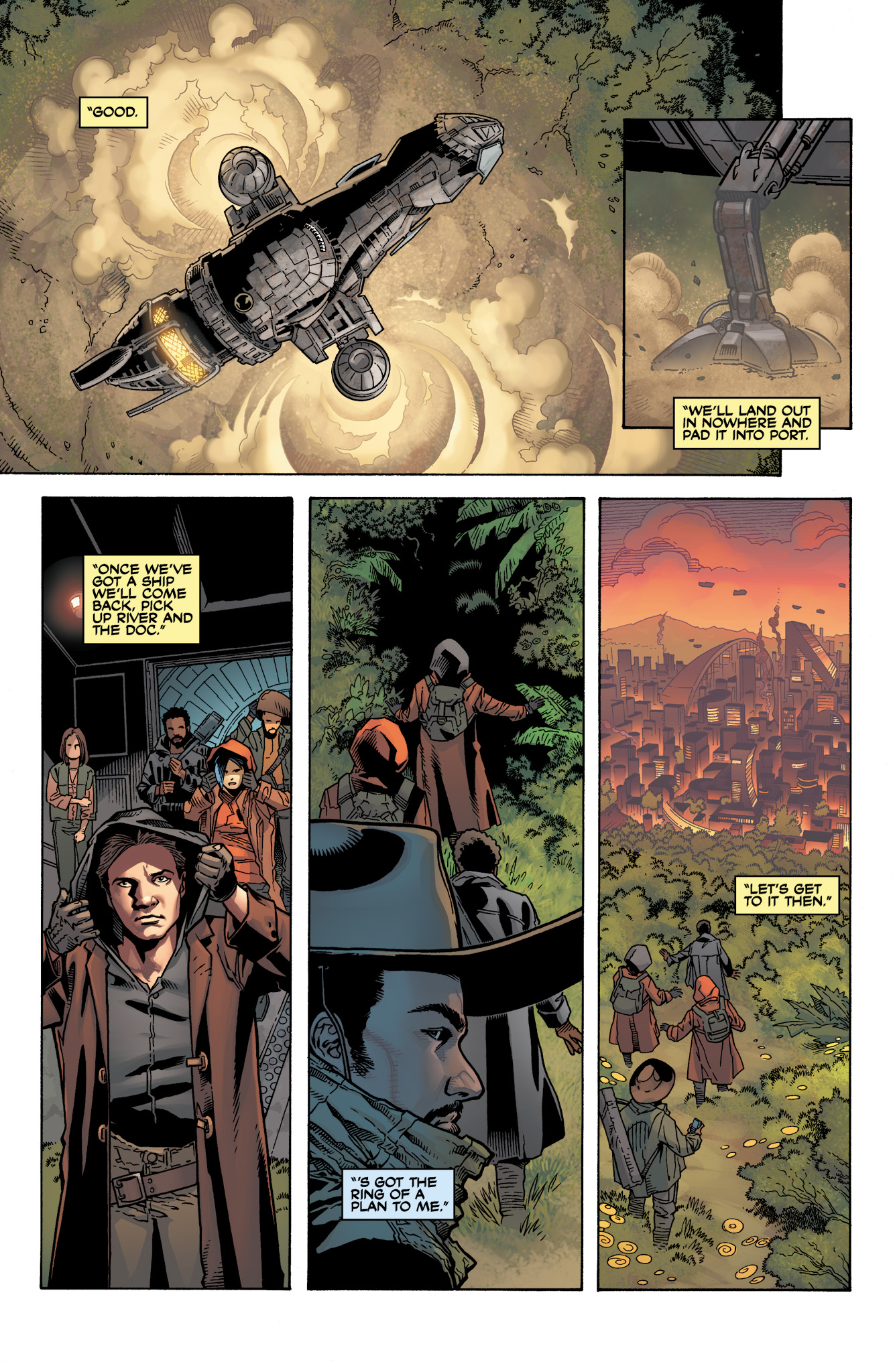 Read online Serenity: Firefly Class 03-K64  Leaves on the Wind comic -  Issue #4 - 10