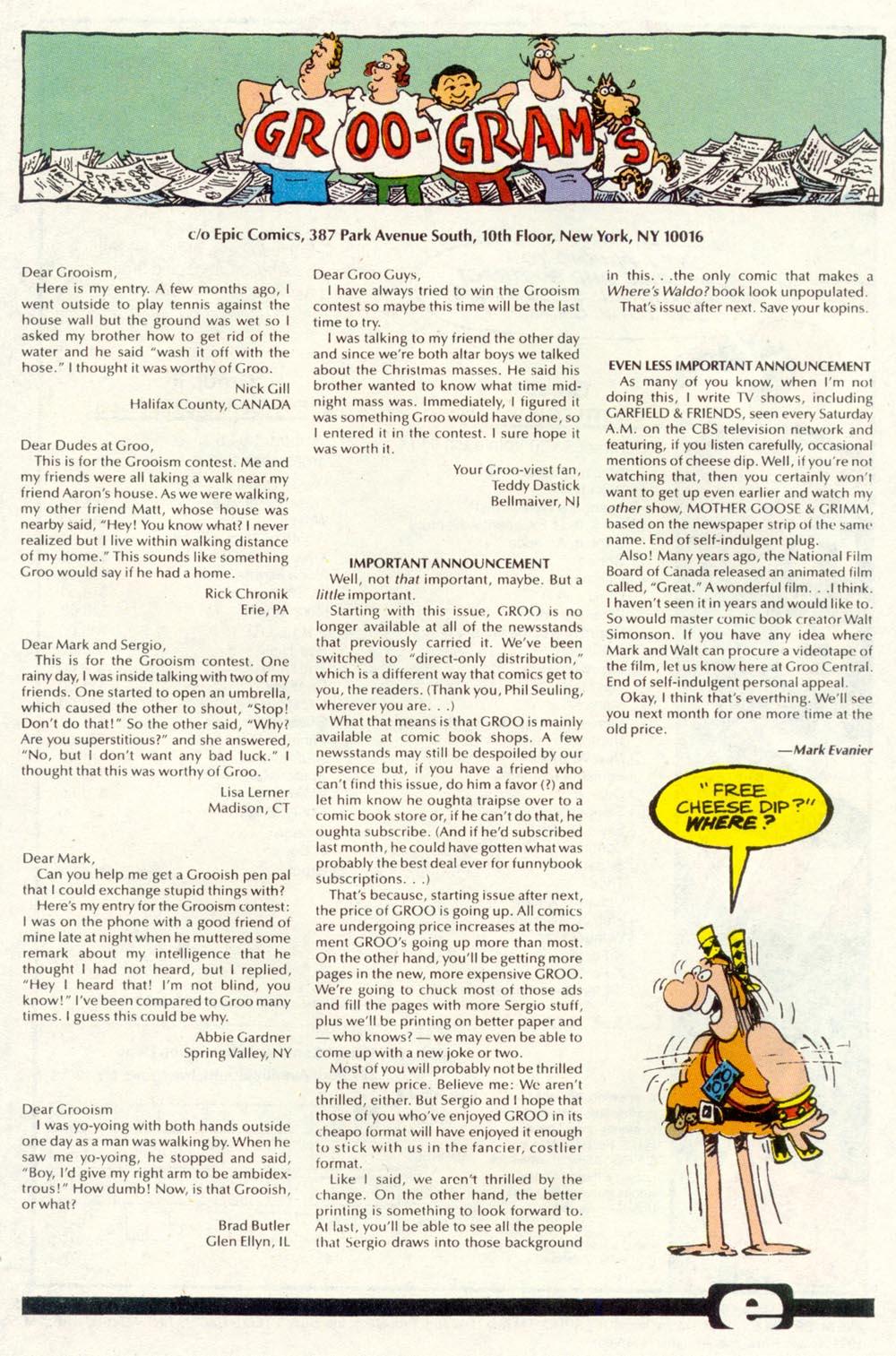 Read online Sergio Aragonés Groo the Wanderer comic -  Issue #85 - 24