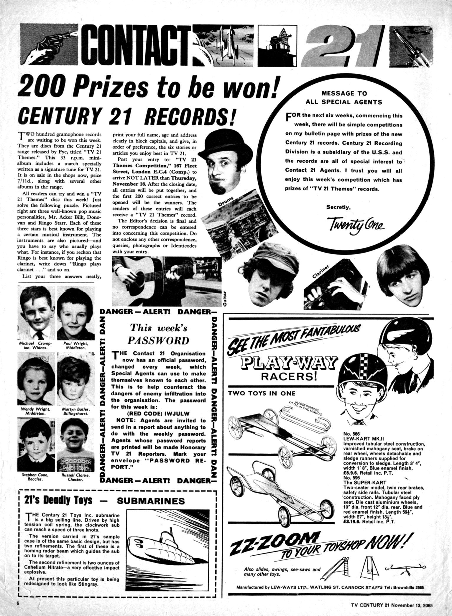 Read online TV Century 21 (TV 21) comic -  Issue #43 - 6