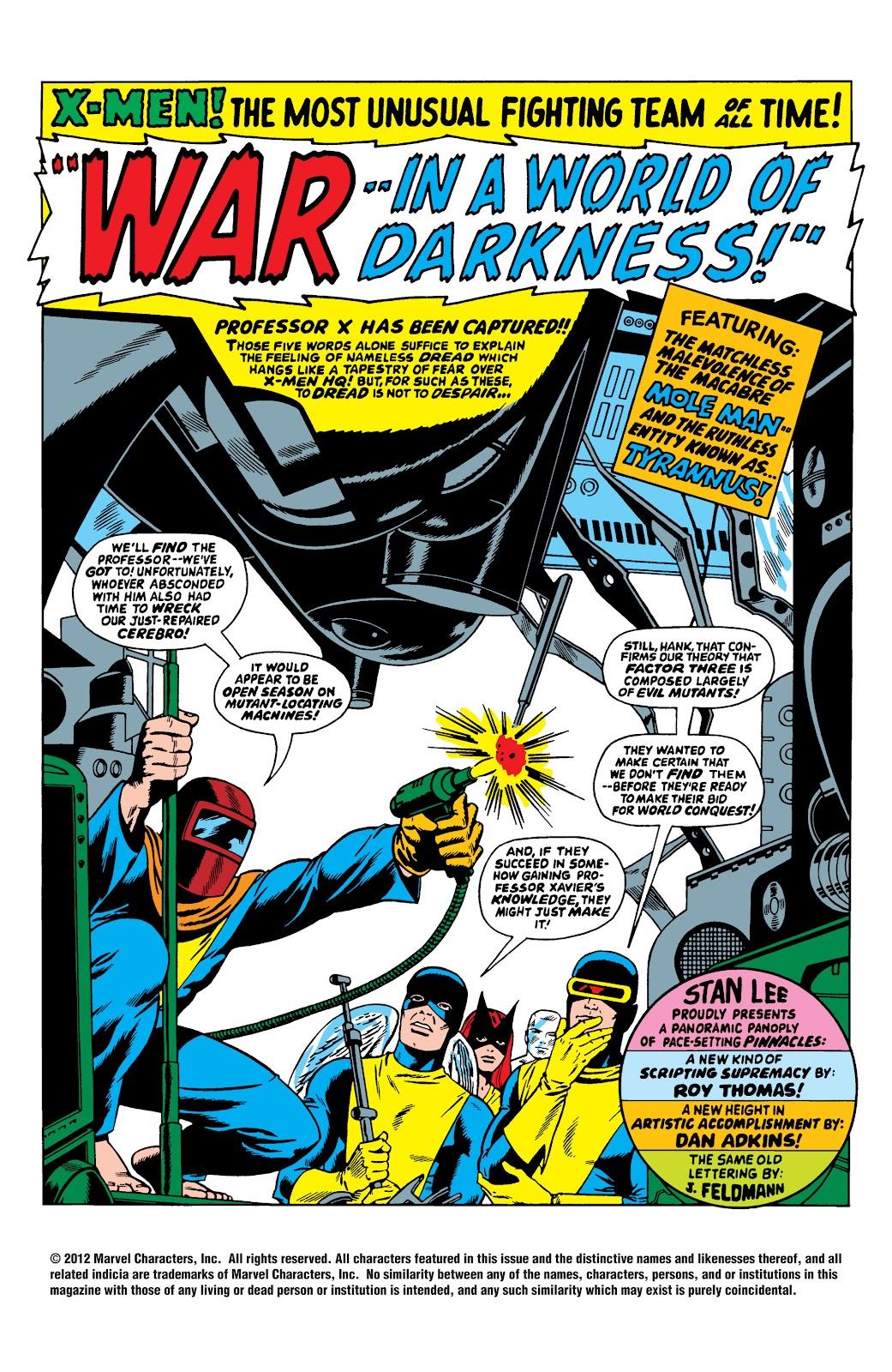 Uncanny X-Men (1963) issue 34 - Page 2