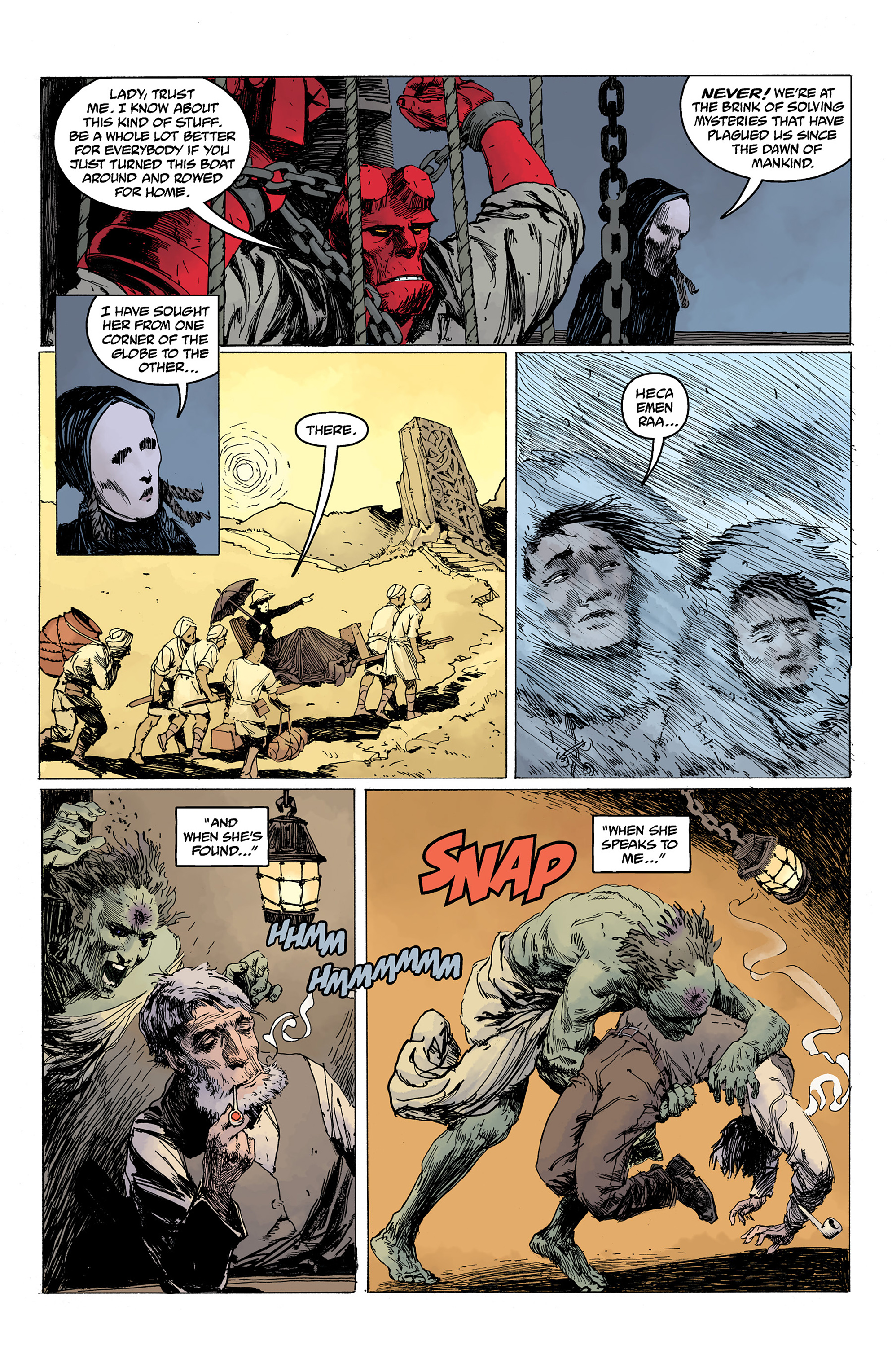 Read online Hellboy: Into the Silent Sea comic -  Issue # Full - 34