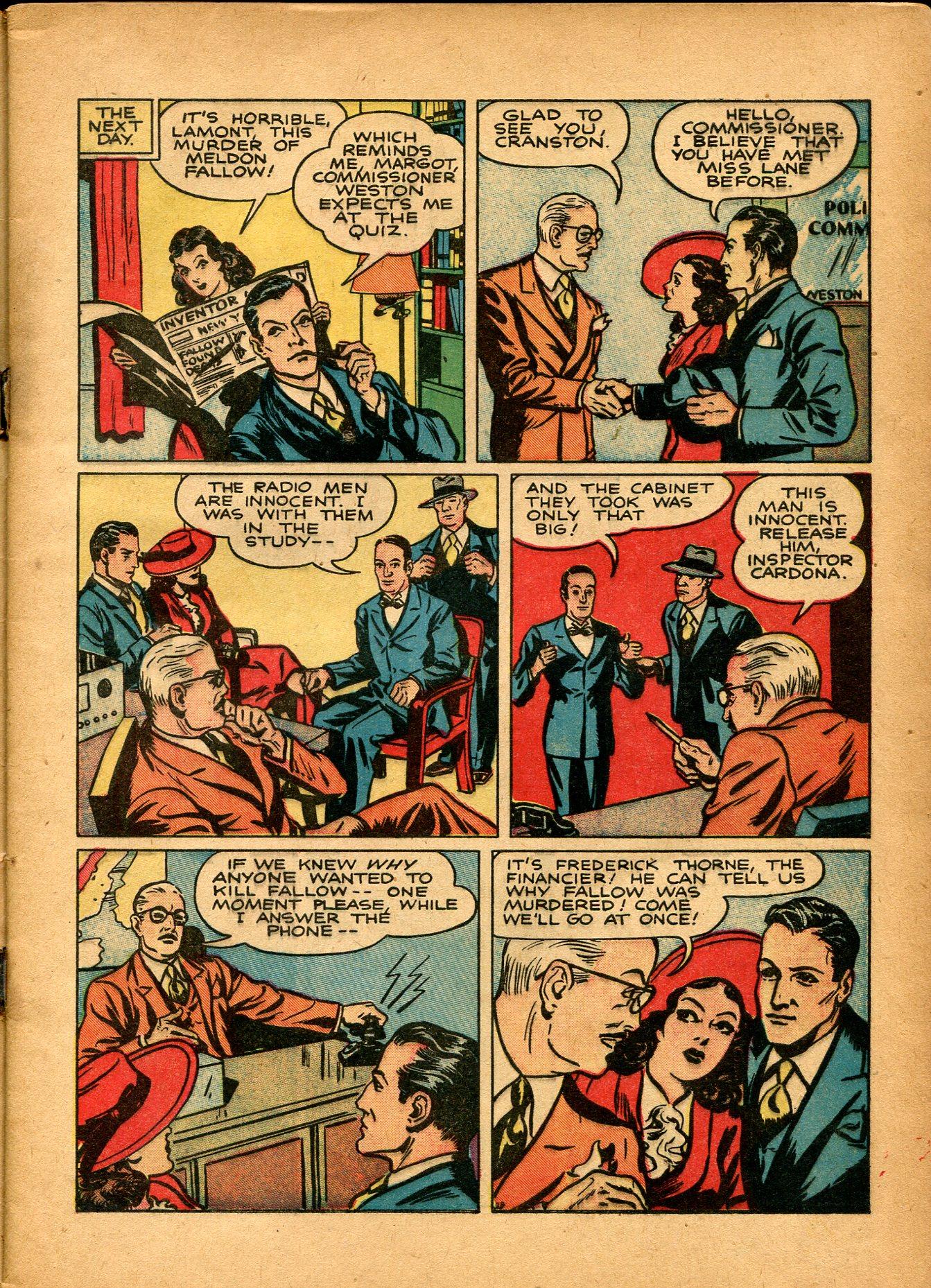 Read online Shadow Comics comic -  Issue #8 - 7