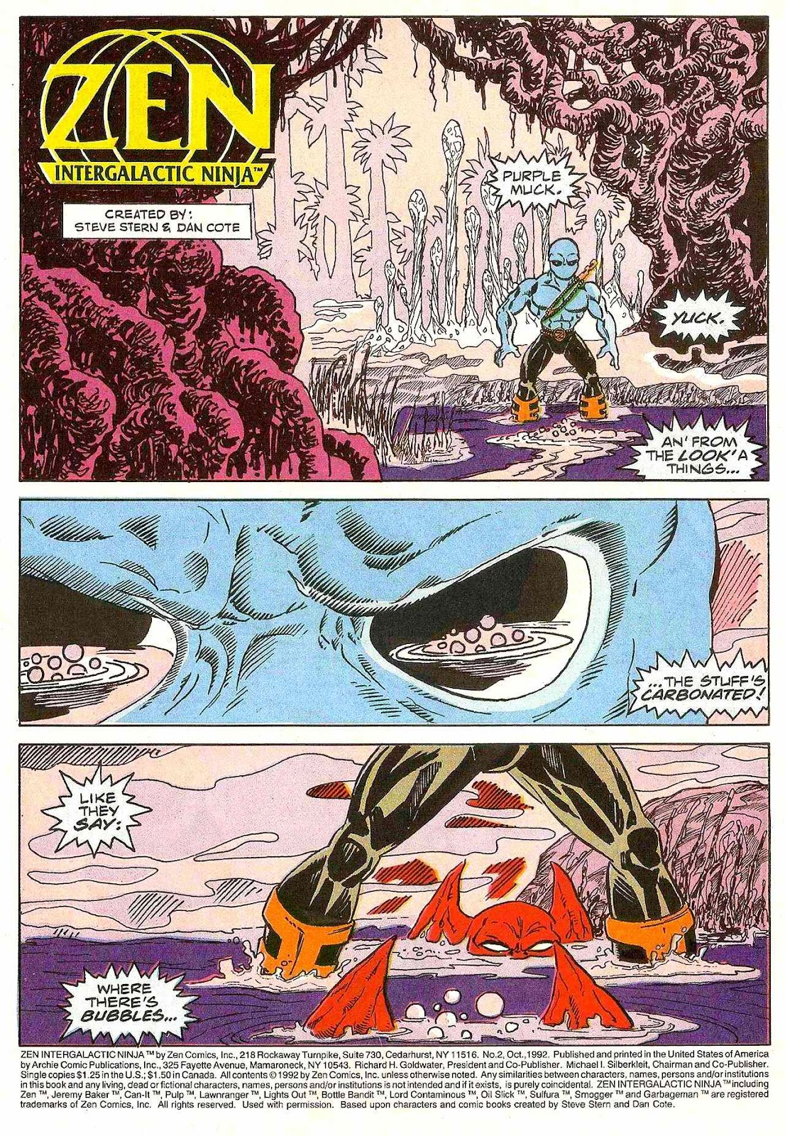 Read online Zen Intergalactic Ninja (1992) comic -  Issue #2 - 3