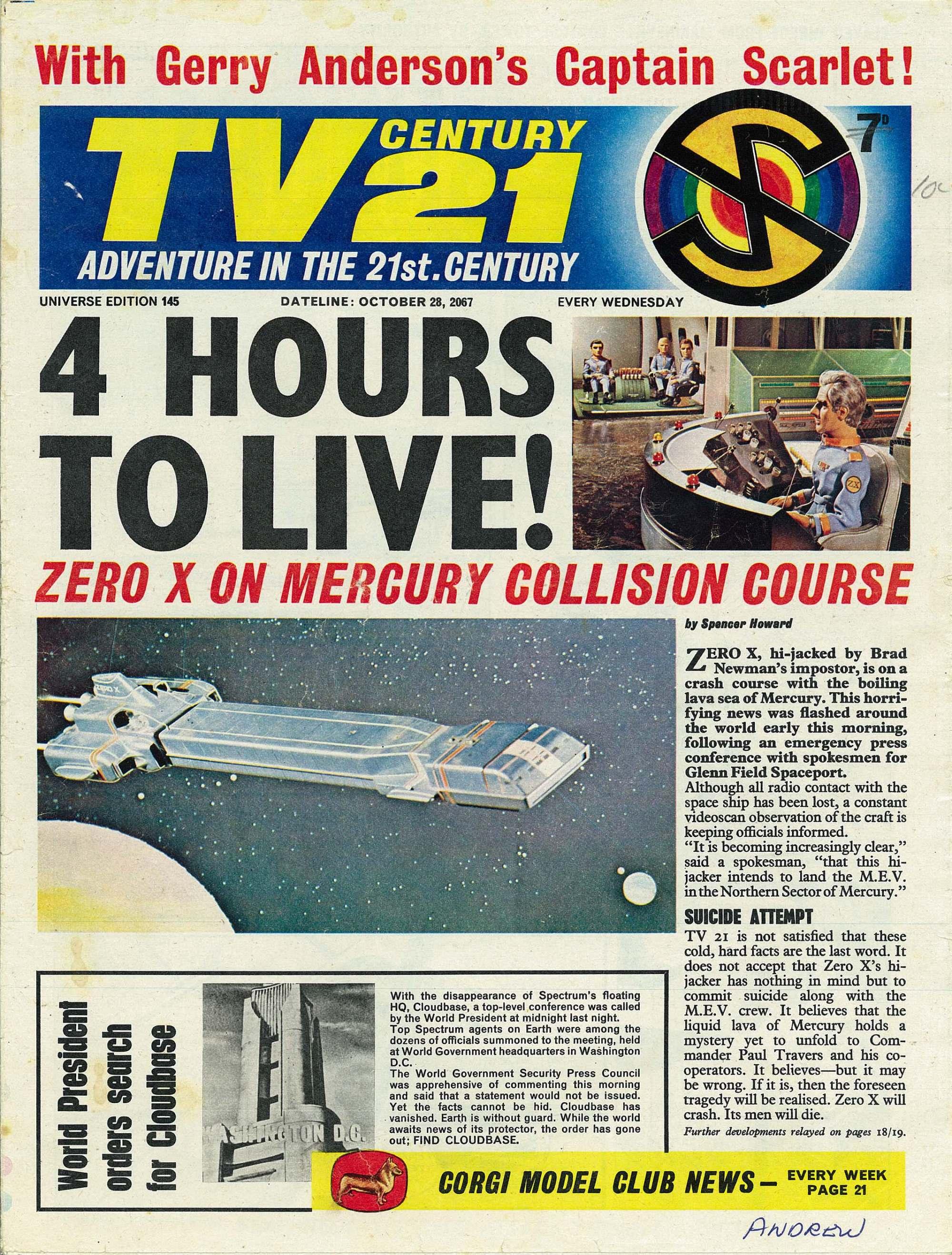 TV Century 21 (TV 21) 145 Page 1