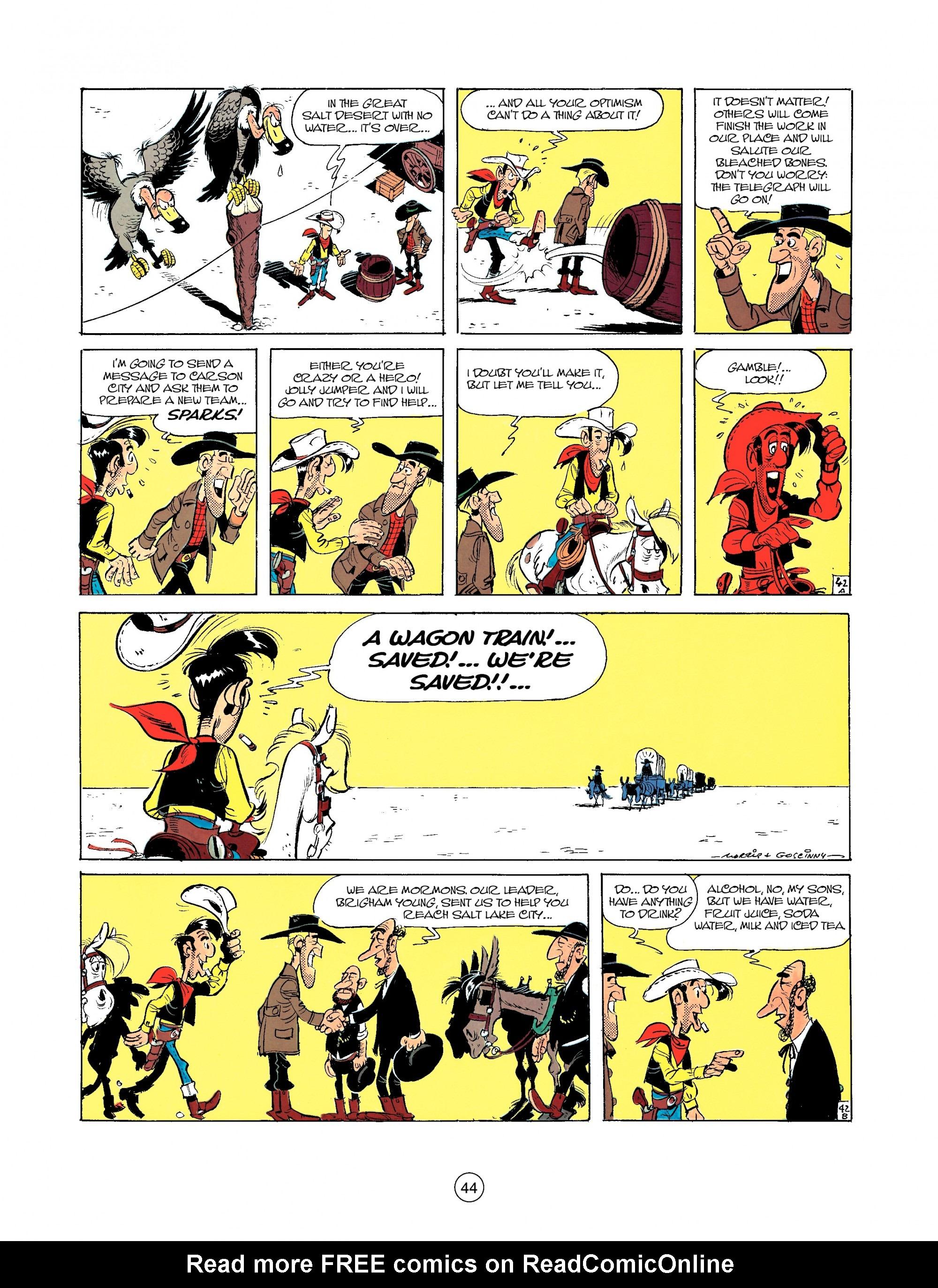 Read online A Lucky Luke Adventure comic -  Issue #35 - 44