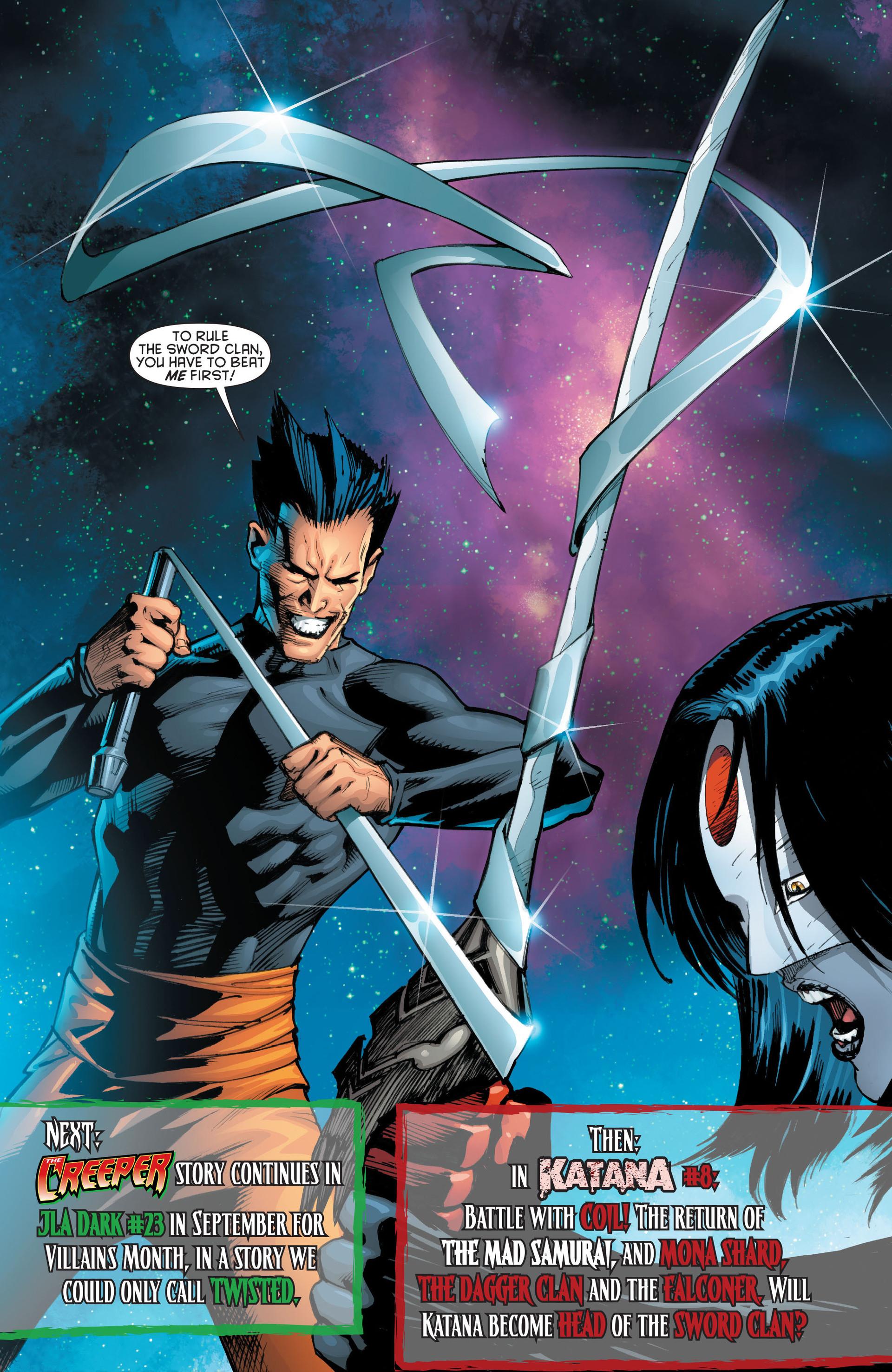 Read online Katana comic -  Issue #7 - 20