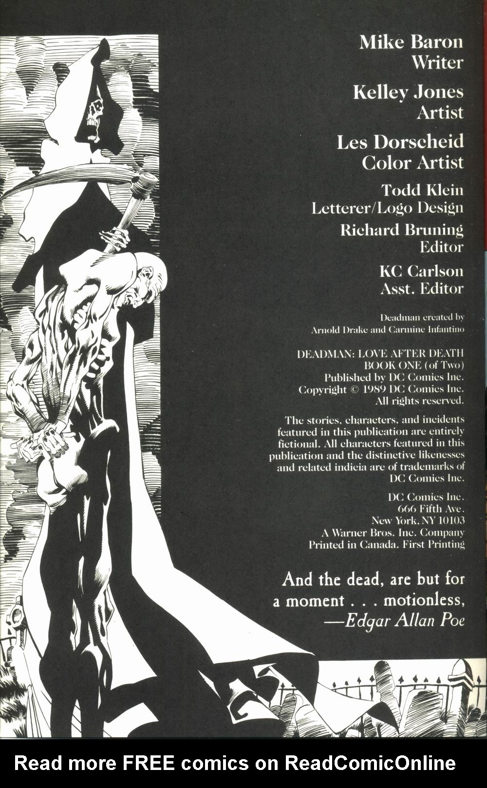 Read online Deadman: Love After Death comic -  Issue #1 - 2