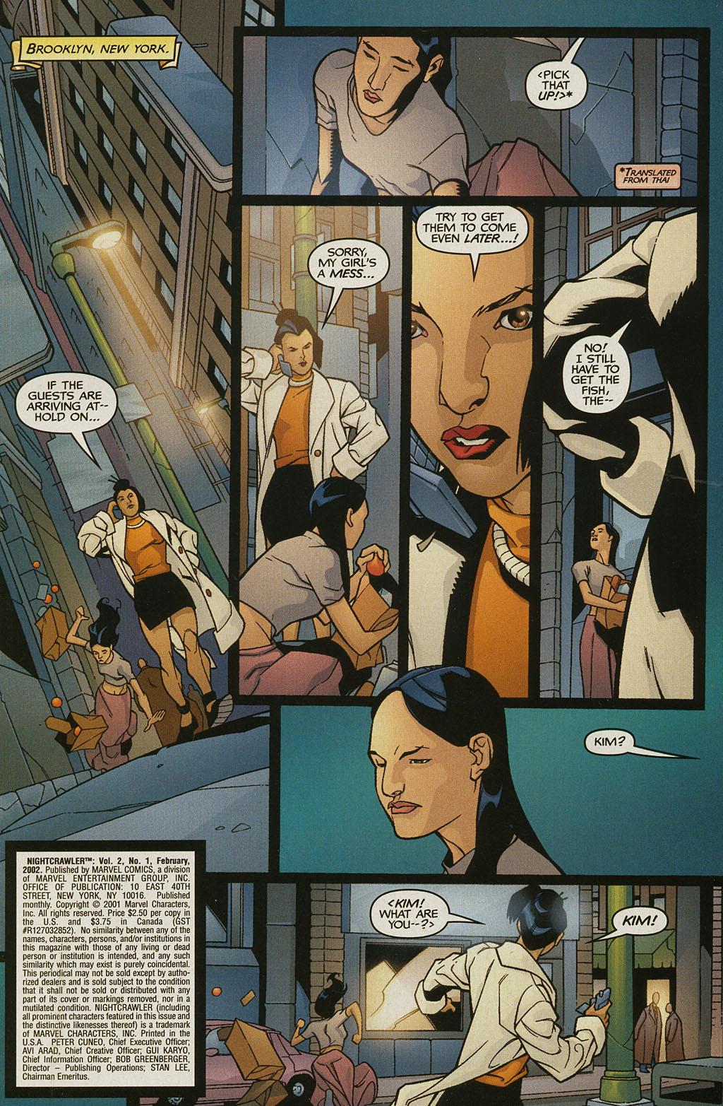 Read online Nightcrawler (2002) comic -  Issue #1 - 2