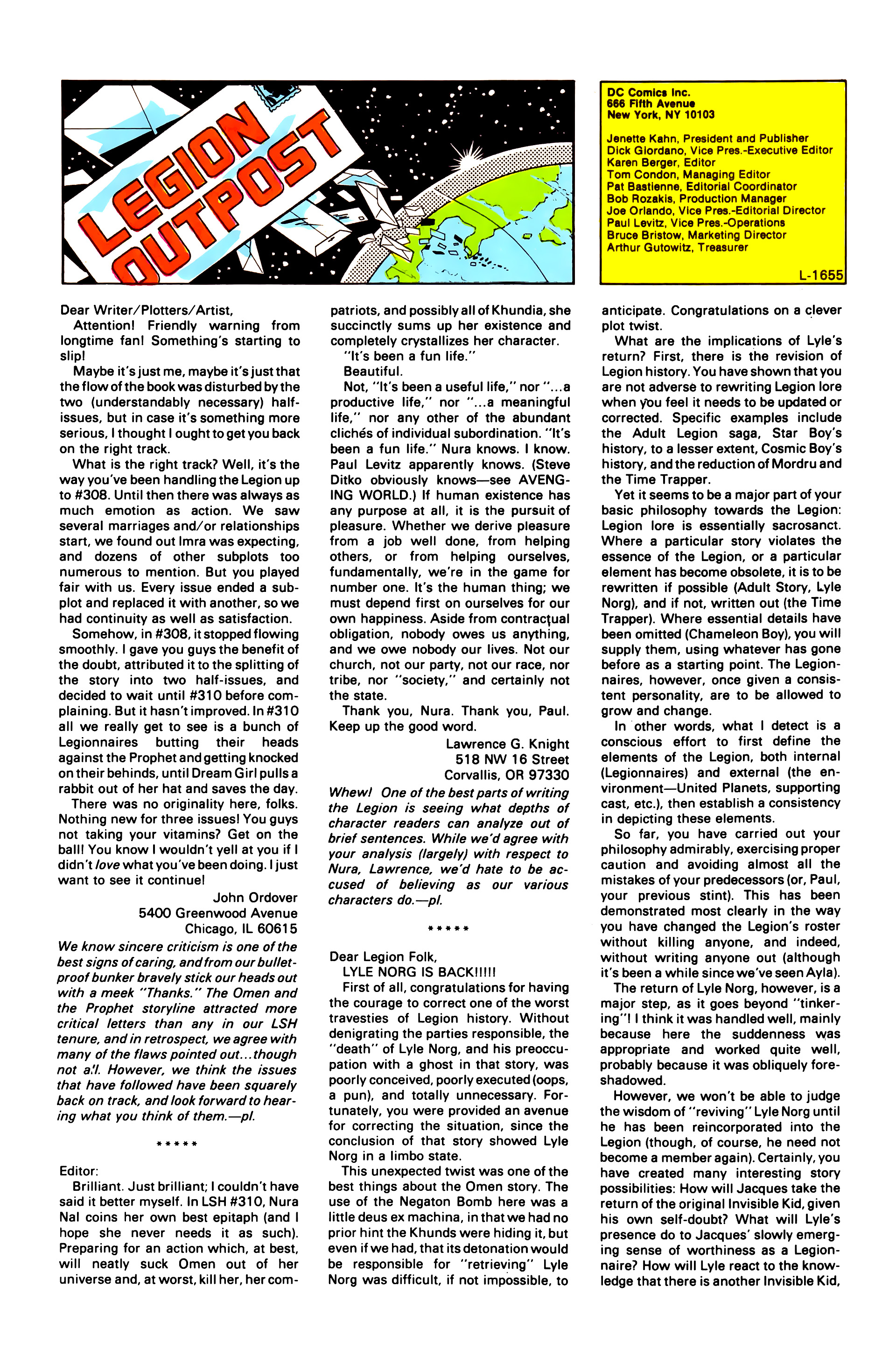 Legion of Super-Heroes (1984) 2 Page 25