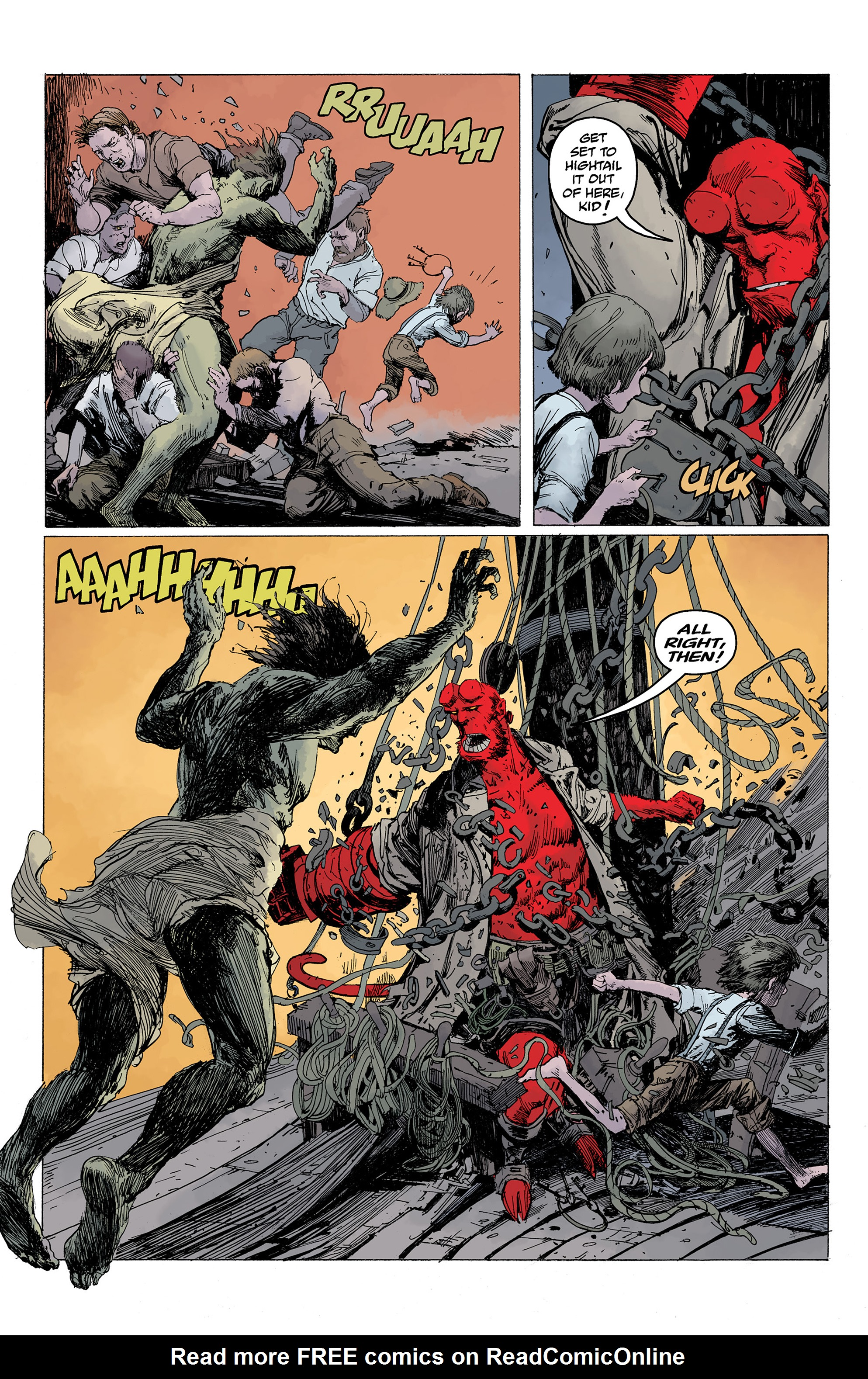 Read online Hellboy: Into the Silent Sea comic -  Issue # Full - 38
