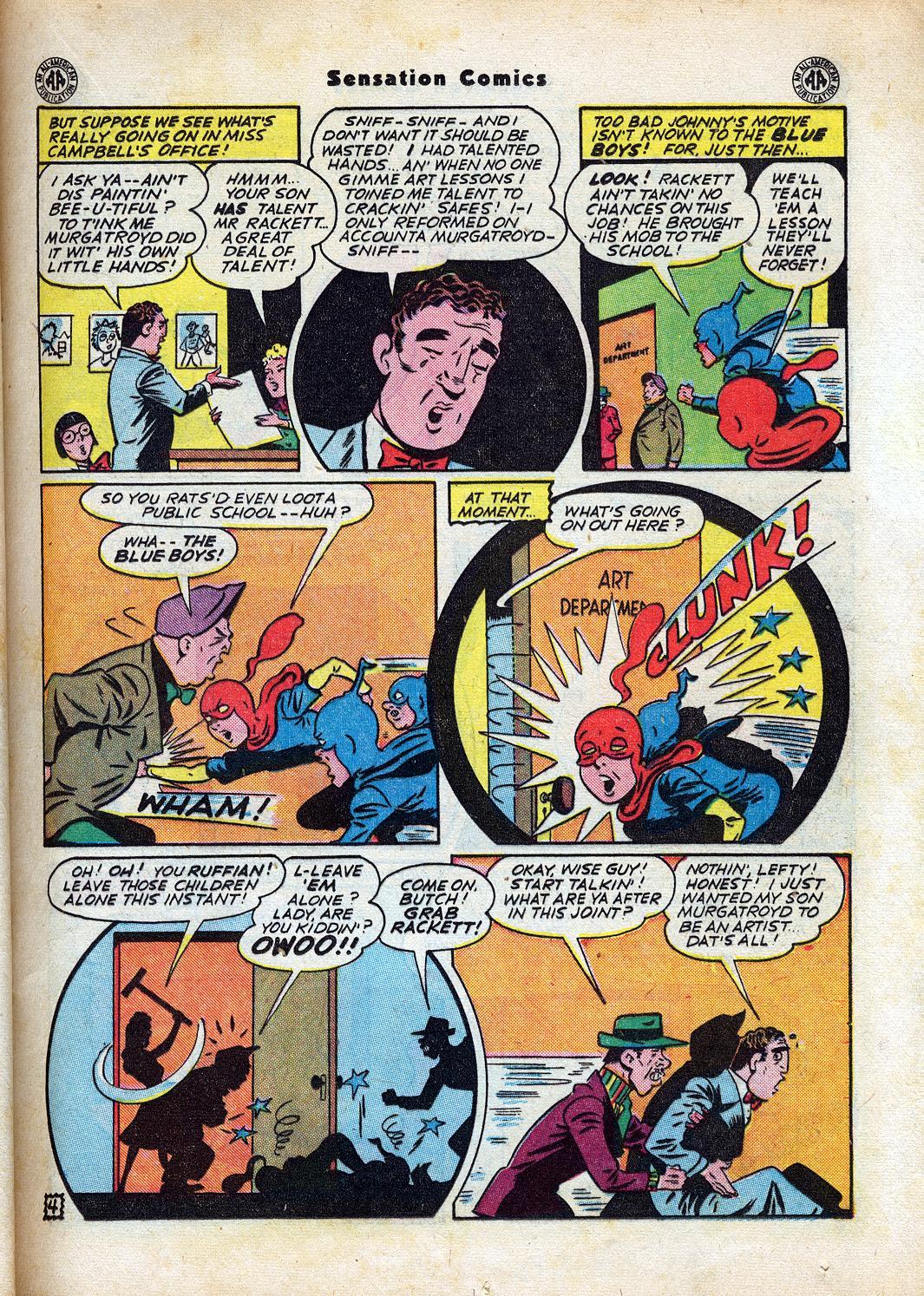 Read online Sensation (Mystery) Comics comic -  Issue #47 - 19