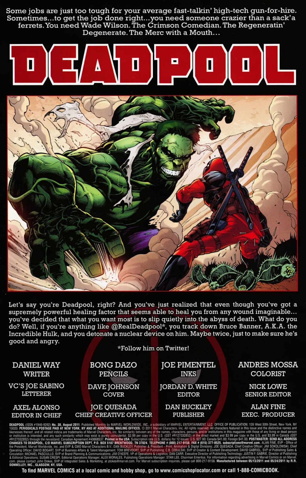 Read online Deadpool (2008) comic -  Issue #38 - 2
