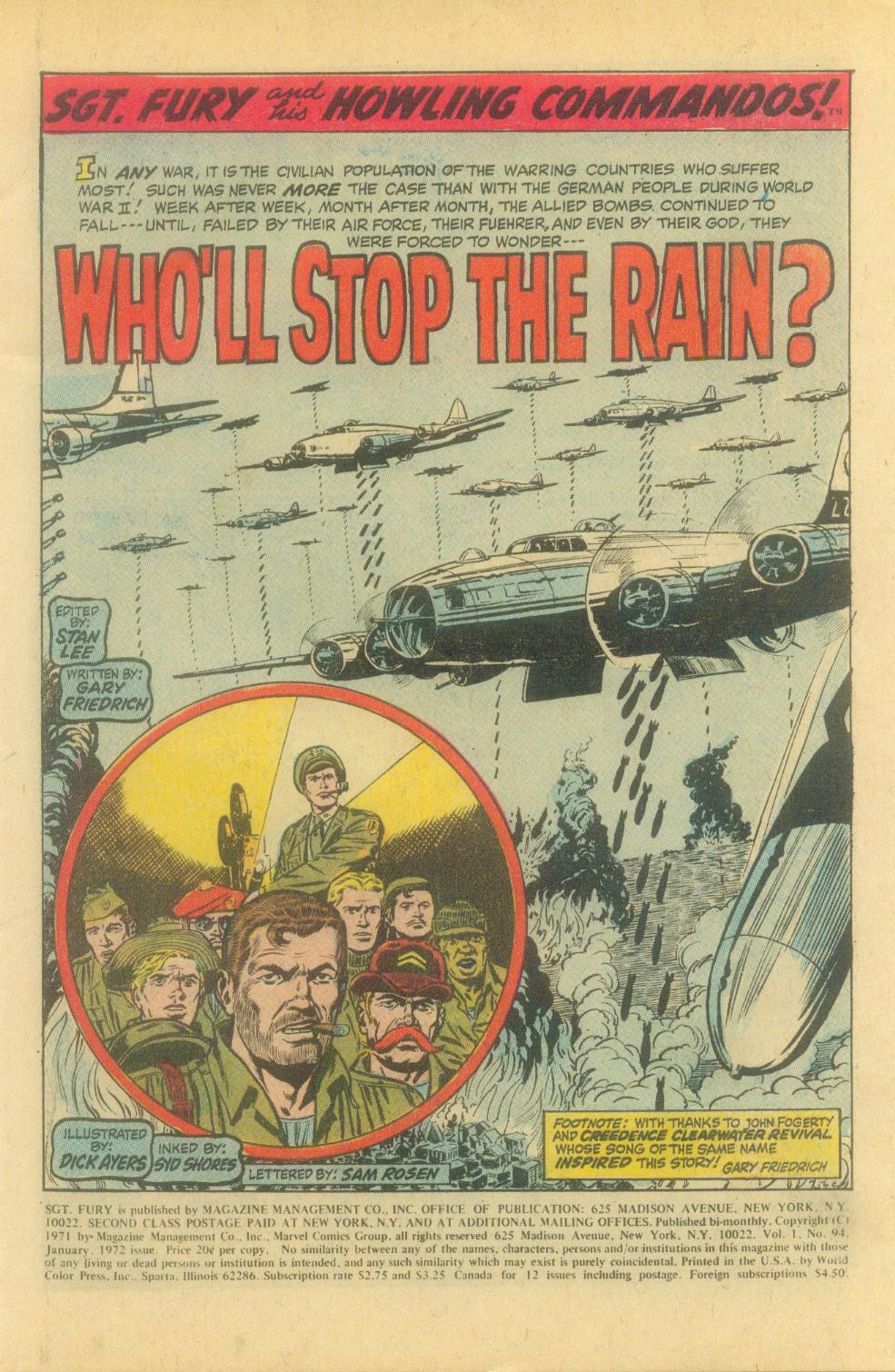 Read online Sgt. Fury comic -  Issue #94 - 3