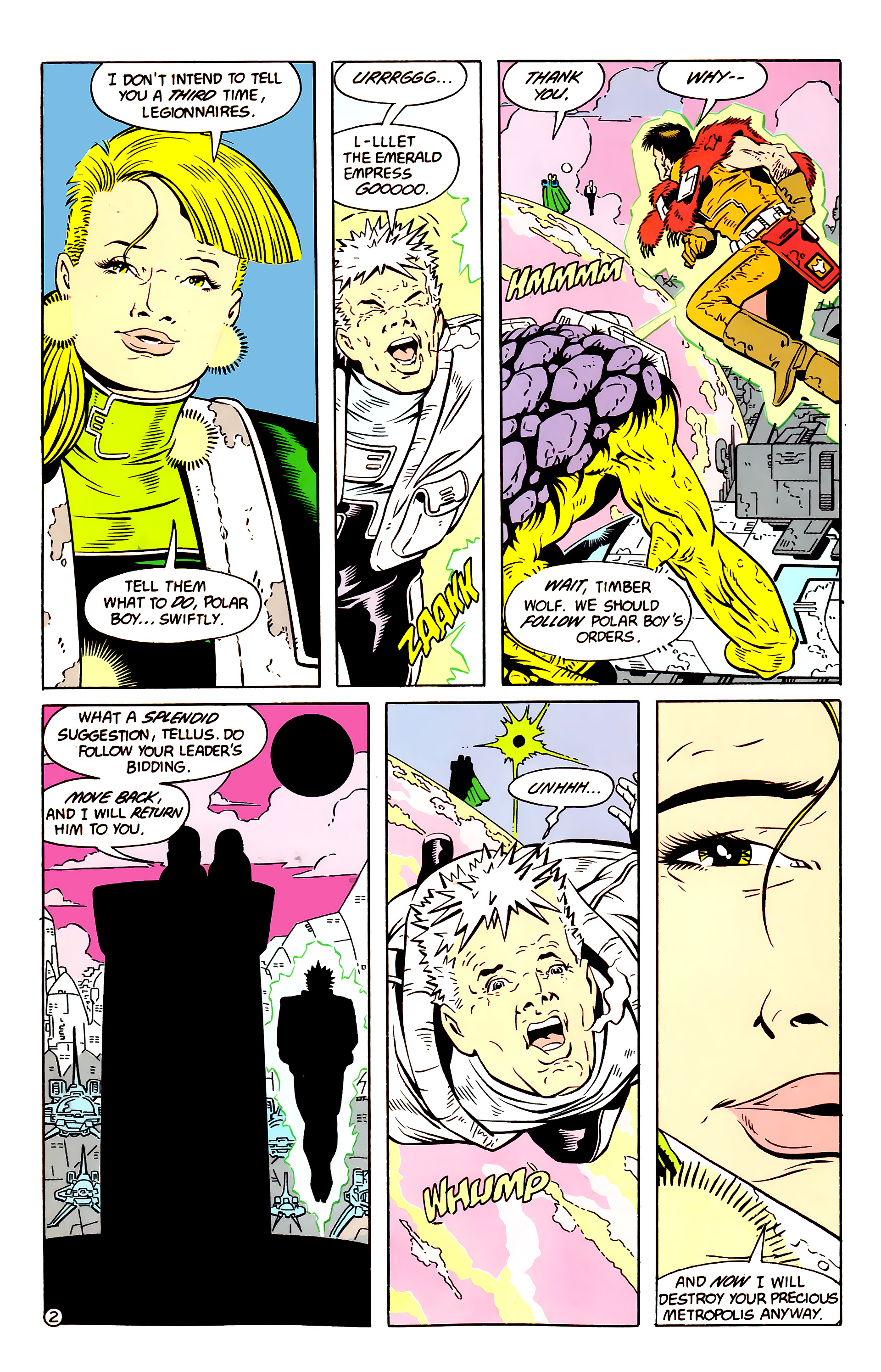 Legion of Super-Heroes (1984) 58 Page 2