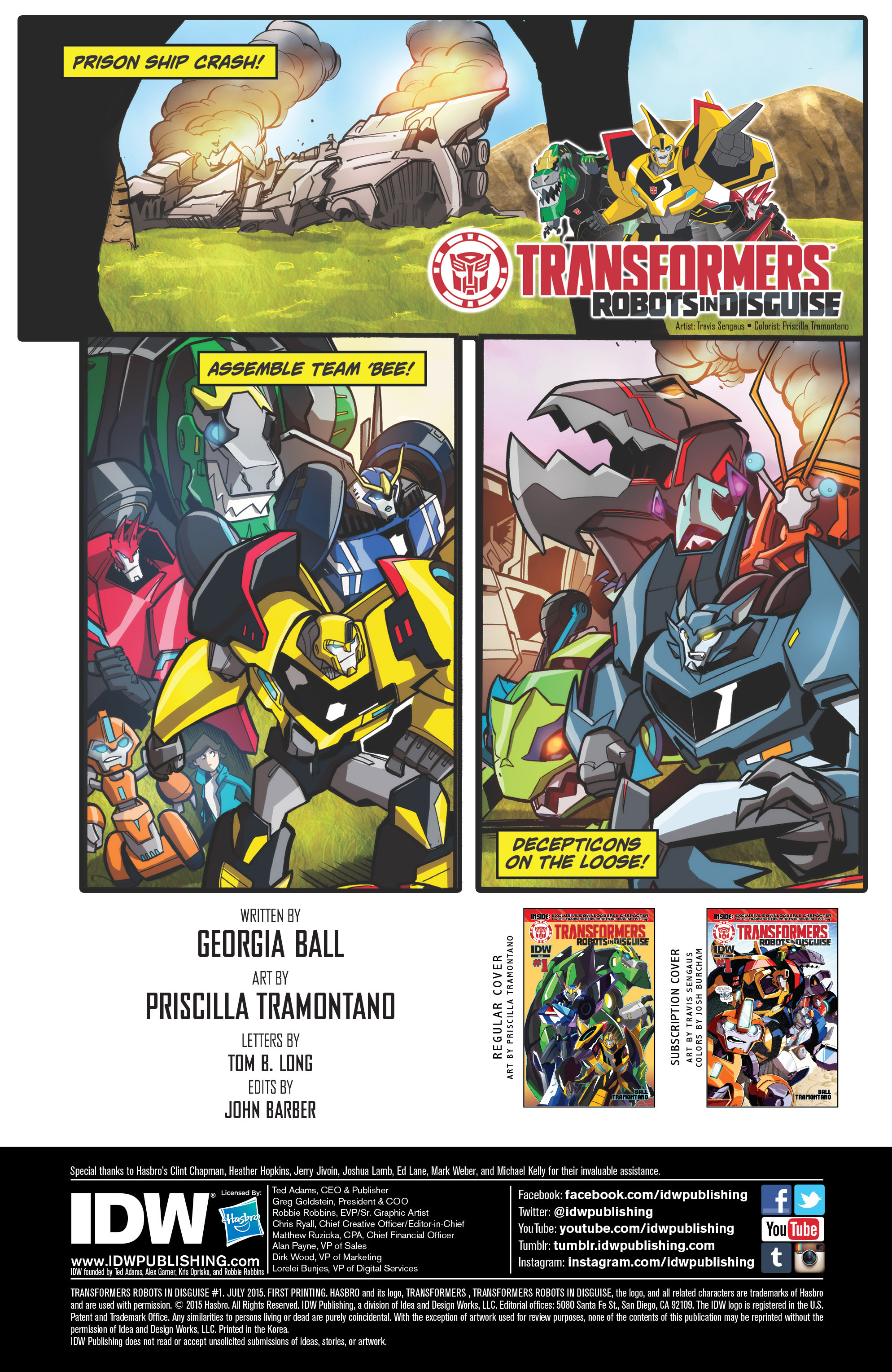 Read online Transformers: Robots In Disguise (2015) comic -  Issue #1 - 2