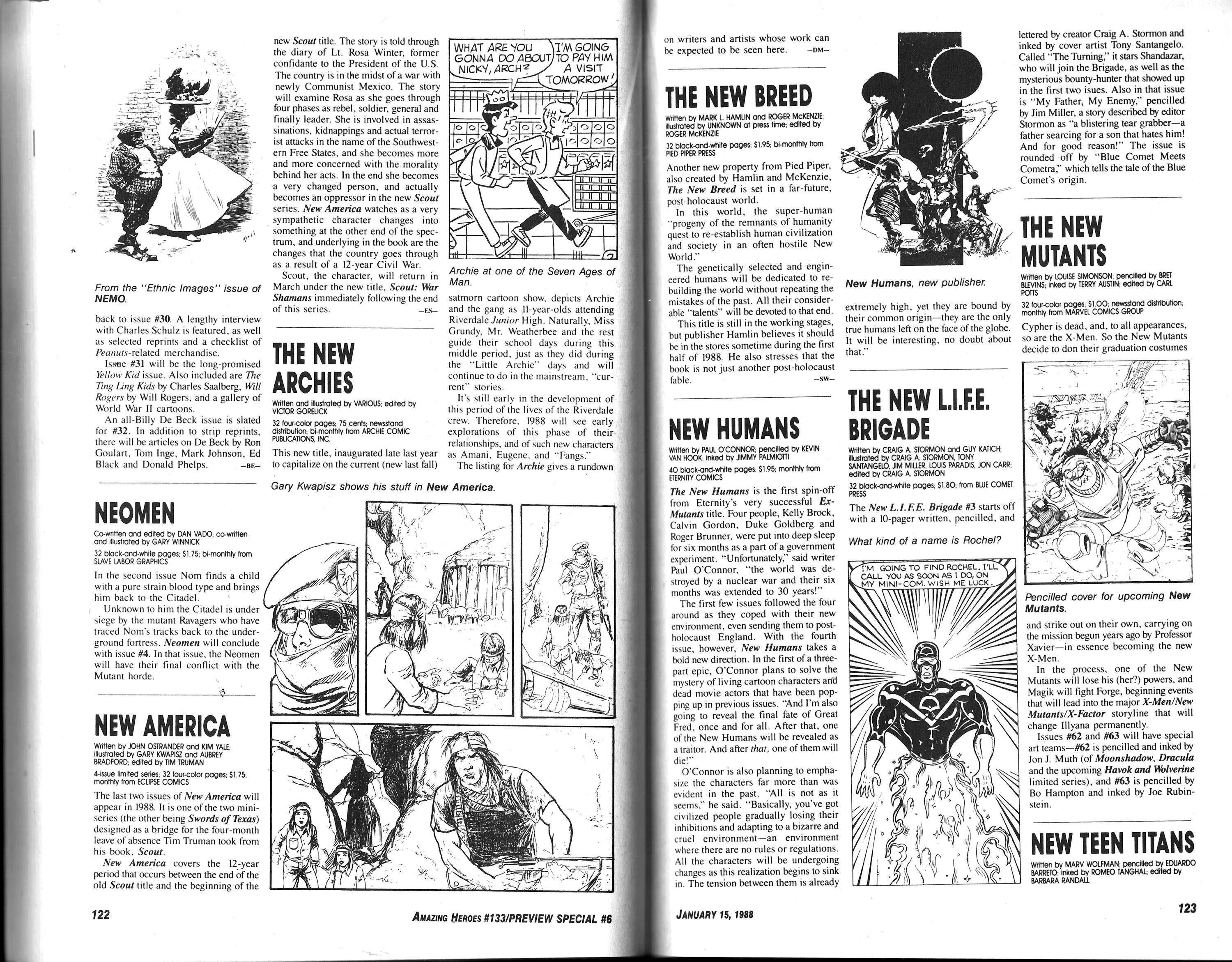 Read online Amazing Heroes comic -  Issue #133 - 63