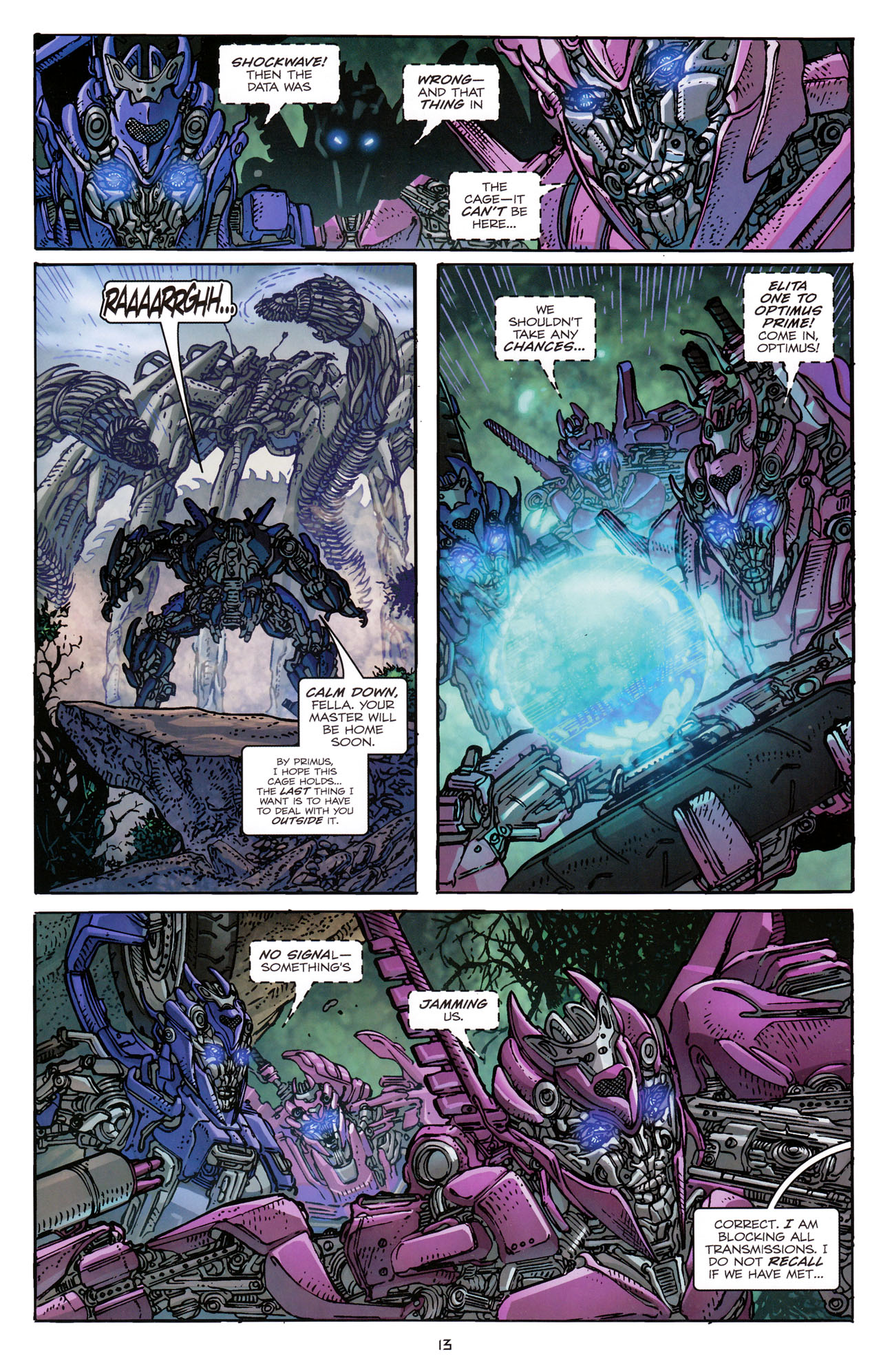Read online Transformers: Dark of the Moon Rising Storm comic -  Issue #3 - 14